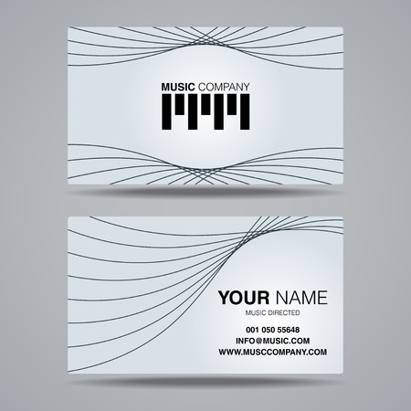 music company name card template, business name card design set Illustration