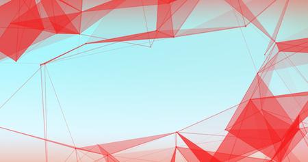 Abstract Plexus Background. Hi Tech Digital poligons texture.