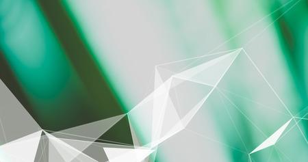Abstract Plexus Background. Geometric poligonal texture on blurred background.