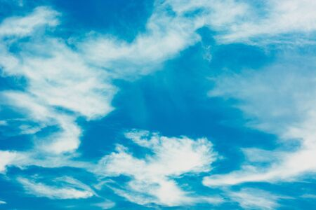 Blue sky with white clouds. Summer background