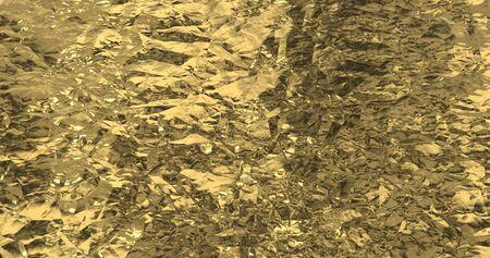 Metallic gold wallpaper. Golden foil background. Magical Happy new year texture. 3D rendering image Foto de archivo