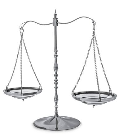 mesure: 3d image of a balance Stock Photo