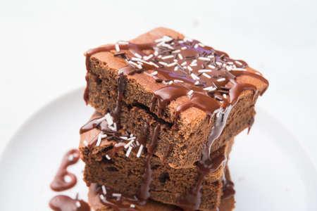 Brownie the best dessert Stockfoto