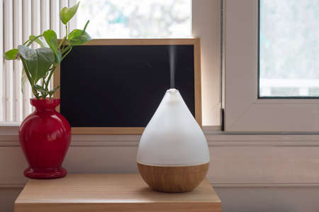 Air humidifier during work or for stay at home for relaxing time.