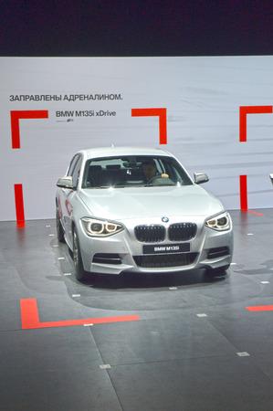 metalic: BMW M135i xDrive. Metalic color. Moscow International Automobile Salon Shine