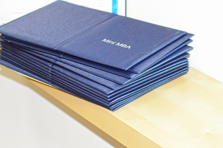 mba: Mini MBA diplomas Stock Photo
