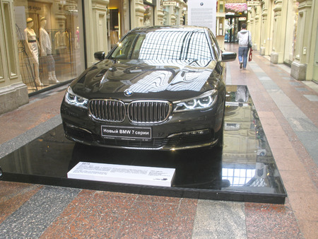 laser lights: 100 years of the BMW. The State Department Store. Moscow. BMW 7-Series Editorial
