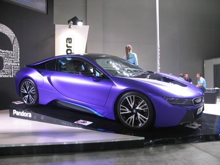 Pandora and BMW. BMW i8. Moscow International Auto Show 2016