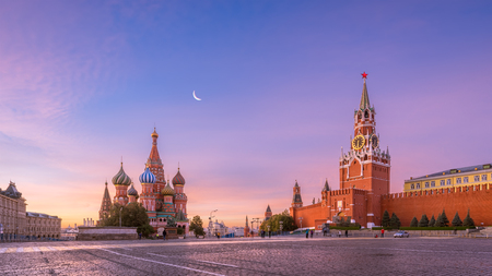 red square: Red Square in the morning Stock Photo