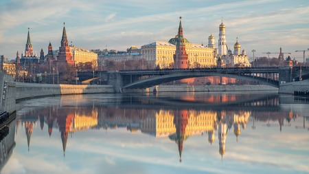 Moscow Kremlin in the morning Stock Photo