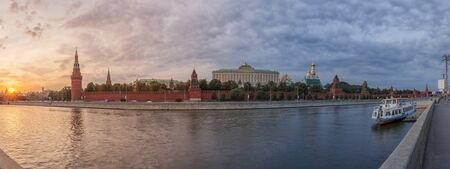 panorama: Panorama sunset at the Moscow Kremlin