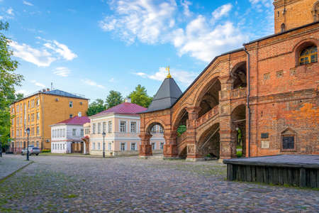 farmstead: Krutitskoe Patriarchal Compound, old streets of Moscow Stock Photo