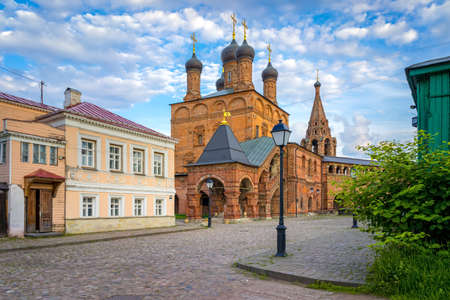 patriarchal: Krutitskoe Patriarchal Compound, old streets of Moscow Stock Photo