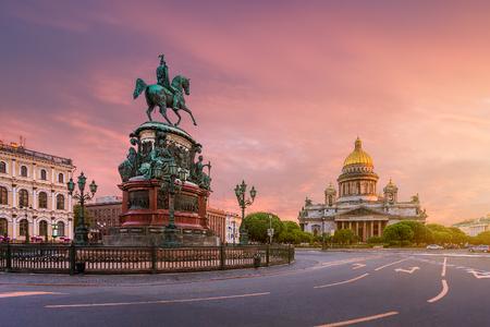 St. Isaacs Square at dawn