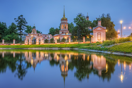 Temple of the Exaltation of the Cross of the Lord in Altufevo. Moscow Stock Photo