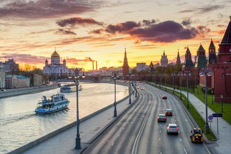 Kremlin embankment in the evening