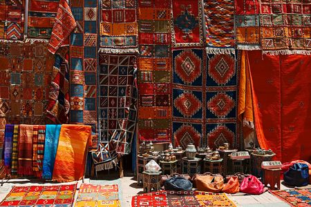 The shop of carpet on the street photo
