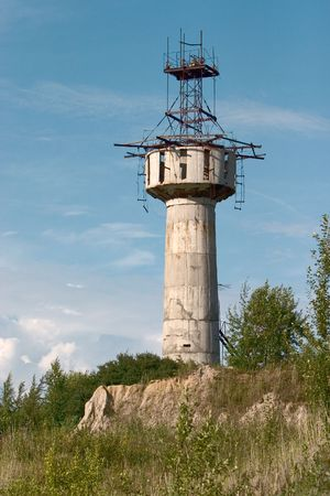 industrial ruins: industrial ruins of tower under blue sky