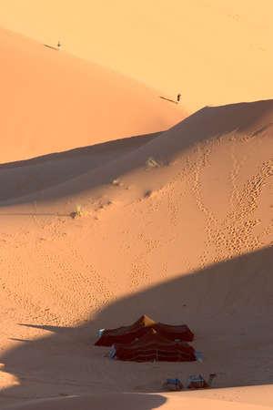 Tourist camp in desert. Morocco. photo
