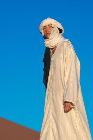 young woman in sahara desert Stock Photo - 575657