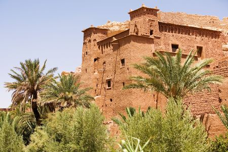 kingdom of heaven: The fortified town of Ait ben Haddou near Ouarzazate on the edge of the sahara desert in Morocco. Taken as dawn broke. Famous for it use as a set in many films such as Lawernce of Arabia, Gladiator, Jewel of the Nile, Gladiator, Kingdom of Heaven, Kundun