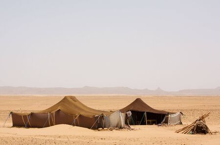 The bedouins tent in the sahara, morocco photo