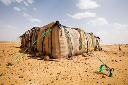 The bedouins tent in the sahara, morocco