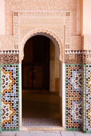 Moroccan entrance, door way, entry, exit, pattern  photo