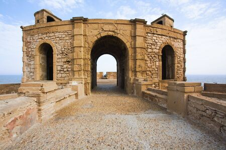 spaniards: View of Essaouira fortress in the morning