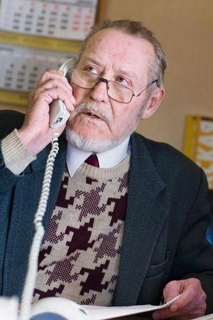 Mature businessman talking on the phone Stock Photo - 2395806