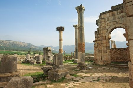 Volubilis is the best preserved Roman site in Morocco, and features some brilliant mosaics.  photo