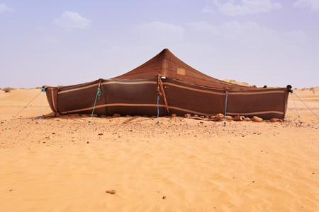 sahara desert: The bedouins tent in the sahara, morocco