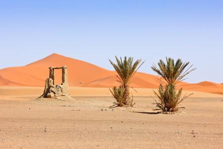 desert landscape: Beautiful Desert Landscape. Sahara, Morocco. Stock Photo