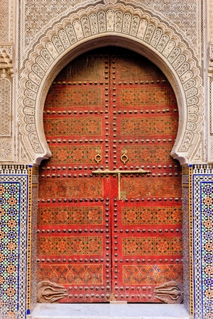 frontage: Moroccan entrance Stock Photo