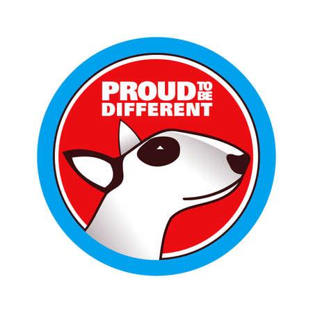bull terrier: Proud Bull-terrier dog breed logo
