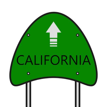 California State, CA Board State Illusztráció