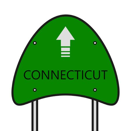 connecticut: Connecticut State, CT Board State Illustration