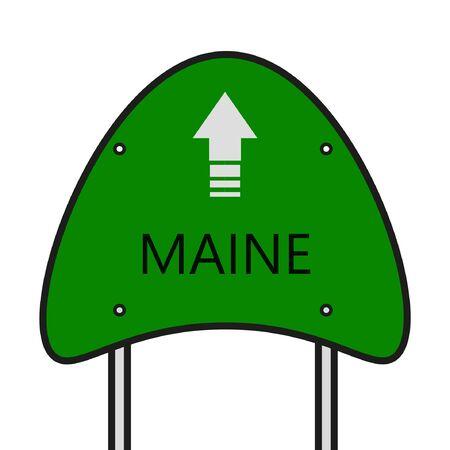 Maine State Illusztráció