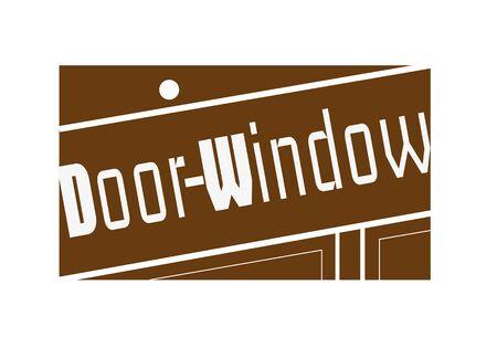 opening door: Door Window Stamp