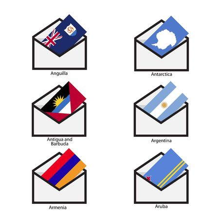 antigua: Mail Flags, Opening mail