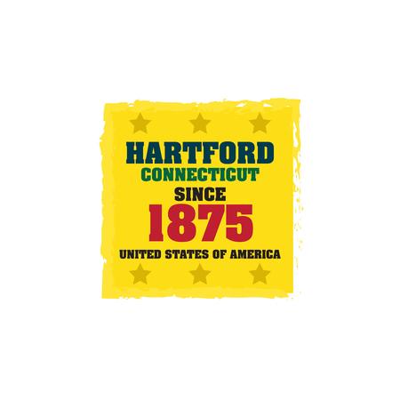 hartford: Hartford since 1875 Illustration