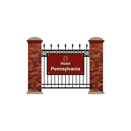 pennsylvania: Hotel Pennsylvania Illustration