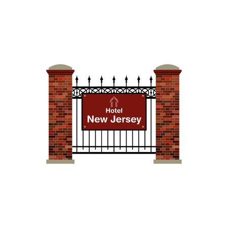 jersey: Hotel New Jersey Illustration