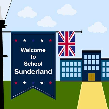 Welcome to School Sunderland, Vertical Flag and United Kingdom Flag