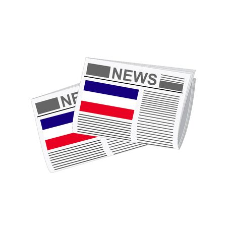 folded paper: Illustration of Newspapers, Newspapers with Los Altos Flags