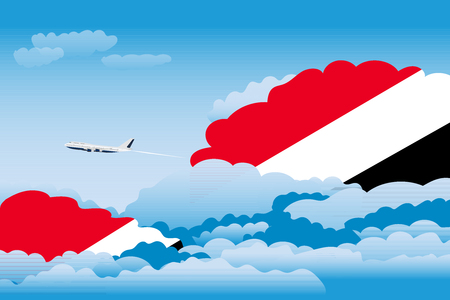 sealand: Illustration of Clouds, Clouds with Sealand, Principality of Flags, Aeroplane Flying