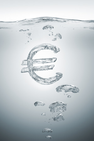 Euro economic bubble ready to burst Stok Fotoğraf