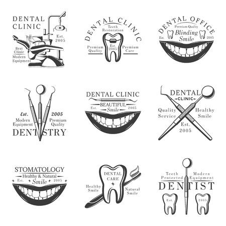 Set of dental logos