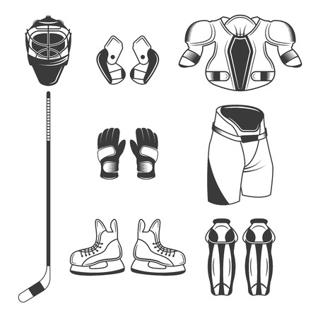 Set of Ice Hockey sport equipment
