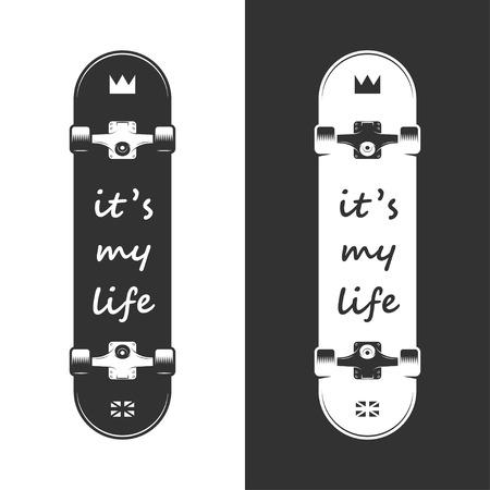 Skateboarding typographic for print, t-shirt, tee design. Vector vintage illustration.